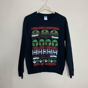 Star Wars Unisex Black Holiday Sweatshirt | Small